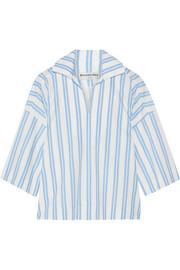 Balenciaga Striped cotton-poplin top