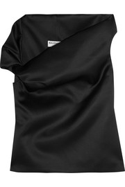 Balenciaga One-shoulder satin top