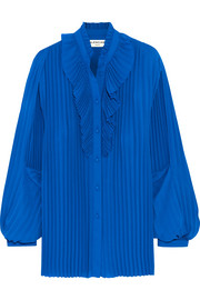 Balenciaga Pleated georgette blouse