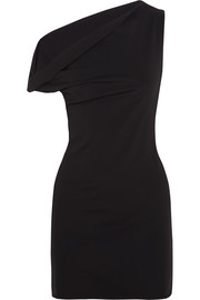 Balenciaga One-shoulder stretch-jersey mini dress