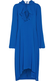 Balenciaga Ruffle-trimmed georgette dress