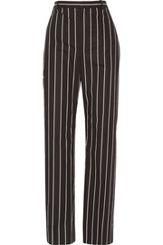 Balenciaga Striped cotton-poplin straight-leg pants