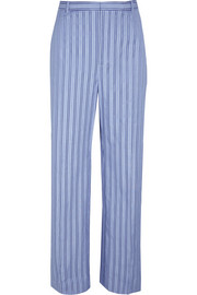 Balenciaga Striped cotton-poplin pants
