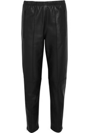 Balenciaga Leather track pants