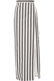 Balenciaga Striped cotton-twill wrap skirt