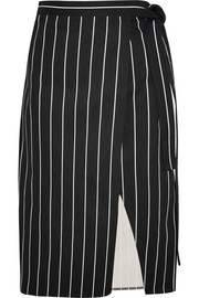 Balenciaga Striped cotton wrap skirt