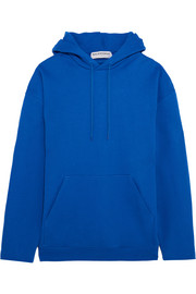 Oversized cotton-terry hooded top
