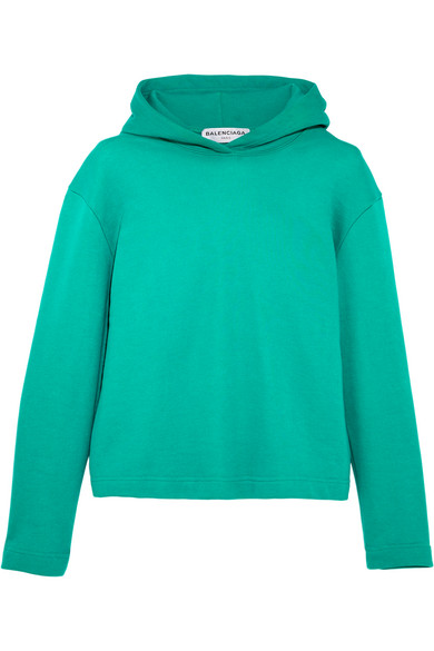 Balenciaga - Suspended Cotton-terry Hooded Top - Green