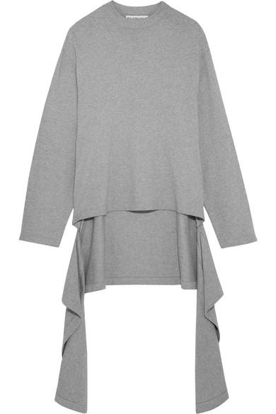 Balenciaga | Draped cotton-jersey sweater | NET-A-PORTER.COM
