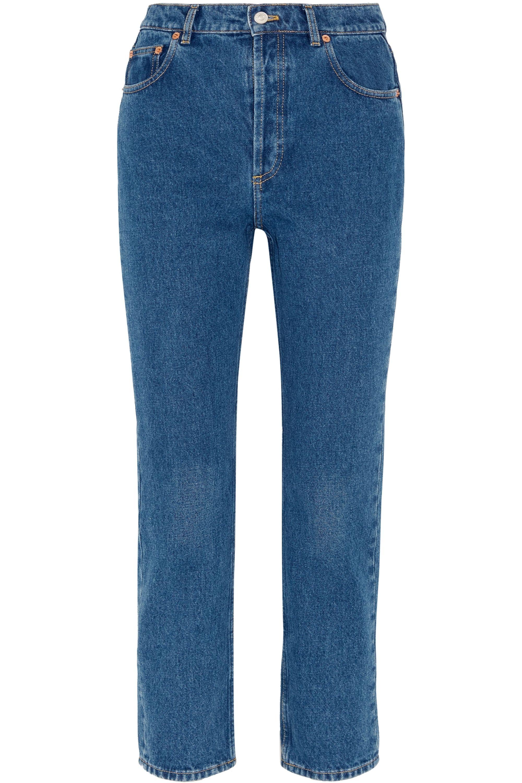 Balenciaga Genuine cropped high-rise straight-leg jeans