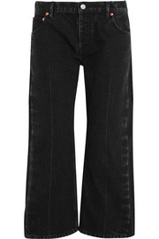 Balenciaga Rockabilly cropped high-rise wide-leg jeans