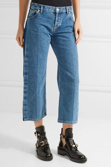 Balenciaga | Rockabilly cropped low-rise wide-leg jeans | NET-A ...