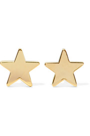 Star 18-karat gold earrings
