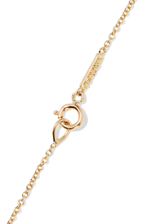 Jennifer Meyer Letter 18-karat gold diamond bracelet