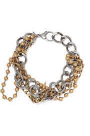 Balenciaga Layered silver and gold-tone necklace