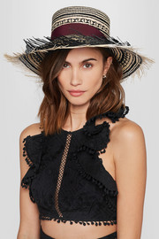 Colombia frayed toquilla straw Panama hat