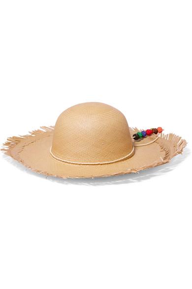 Lady Majorca frayed toquilla straw hat