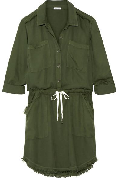 Splendid   Frayed washed-crepe de chine dress   NET-A-PORTER.COM de64fe54e30