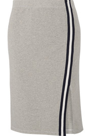 Splendid Varsity Active striped stretch cotton and modal-blend jersey skirt