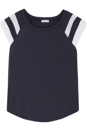 Splendid Varsity Active striped cotton and modal-blend jersey T-shirt