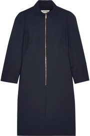 Cefinn Mandarin-collar hopsack mini dress