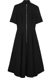 Cefinn Mandarin-collar hopsack midi dress