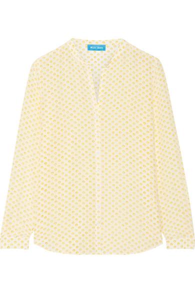 M.i.h Jeans - Evelyn Floral-print Silk Crepe De Chine Shirt - Marigold