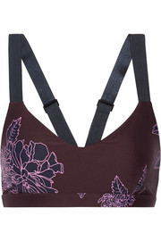 Confetti printed stretch sports bra