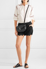 Madewell Scalloped crepe shorts