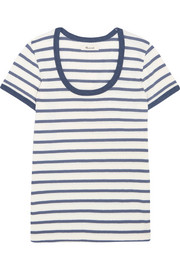 Grayson striped cotton-jersey T-shirt