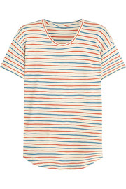 Whisper striped cotton-jersey T-shirt