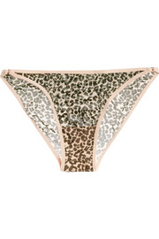 Love Stories Shelby leopard-print stretch-tulle briefs