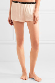 Edie satin pajama shorts