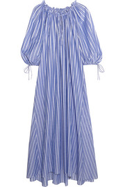 Almost A Honey Moon striped cotton maxi dress