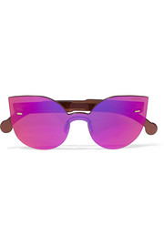 Tuttolente Lucia cat-eye acetate mirrored sunglasses