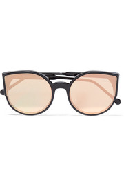 Lucia Forma cat-eye acetate mirrored sunglasses