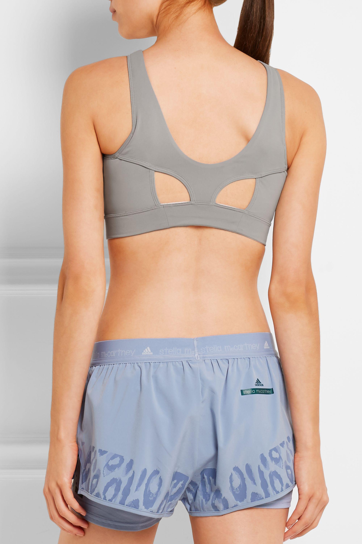 adidas by Stella McCartney High Intensity cutout Climalite® stretch-jersey sports bra