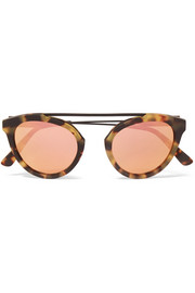 Flower 13 aviator-style acetate and metal mirrored sunglasses