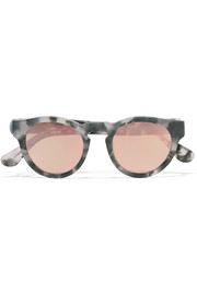 Voyager 15 round-frame acetate mirrored sunglasses