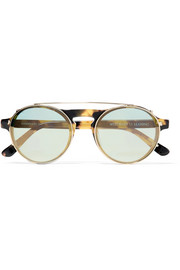 Dyad 6 aviator-style acetate and gold-tone sunglasses