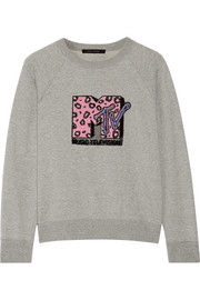 Marc Jacobs Appliquéd cotton-terry sweatshirt