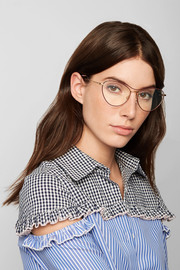 Miu Miu Cat-eye acetate and gold-tone optical glasses