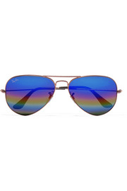 Ray-Ban Aviator glittered metal mirrored sunglasses
