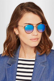 Ray-Ban Round-frame acetate and gold-tone sunglasses