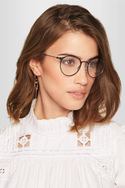 Ray-Ban Round-frame metal optical glasses