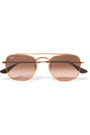Ray-Ban Aviator-style gold-tone sunglasses
