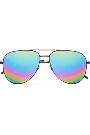 Aviator-style metal mirrored sunglasses