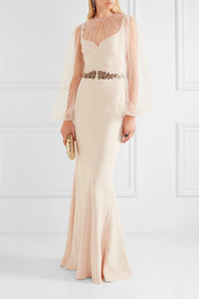 Alexander McQueen Embellished silk-cady and tulle gown