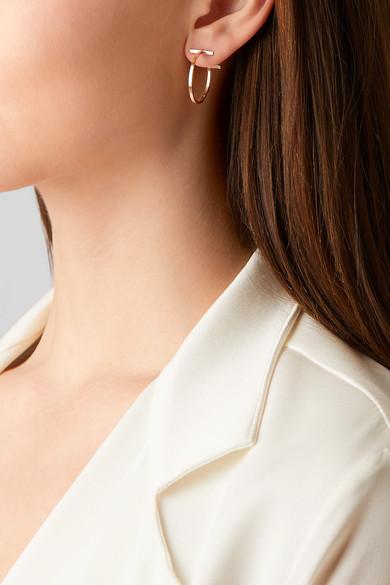 a03391bdd62f1 T Wire 18-karat rose gold hoop earrings