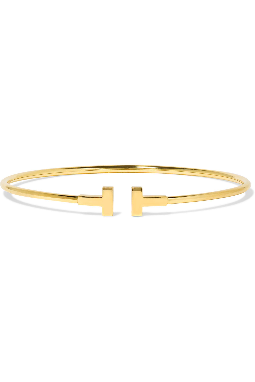 Tiffany & Co. T Wire Narrow Armspange aus 18 Karat Gold
